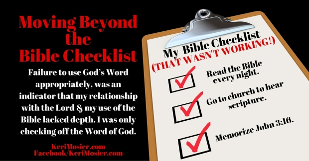 Moving Beyond the Checklist(3)